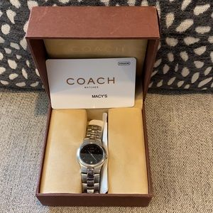 Coach LDS Stainless Steel with Black Dial Watch